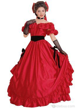 Womens Red Southern Belle Costume