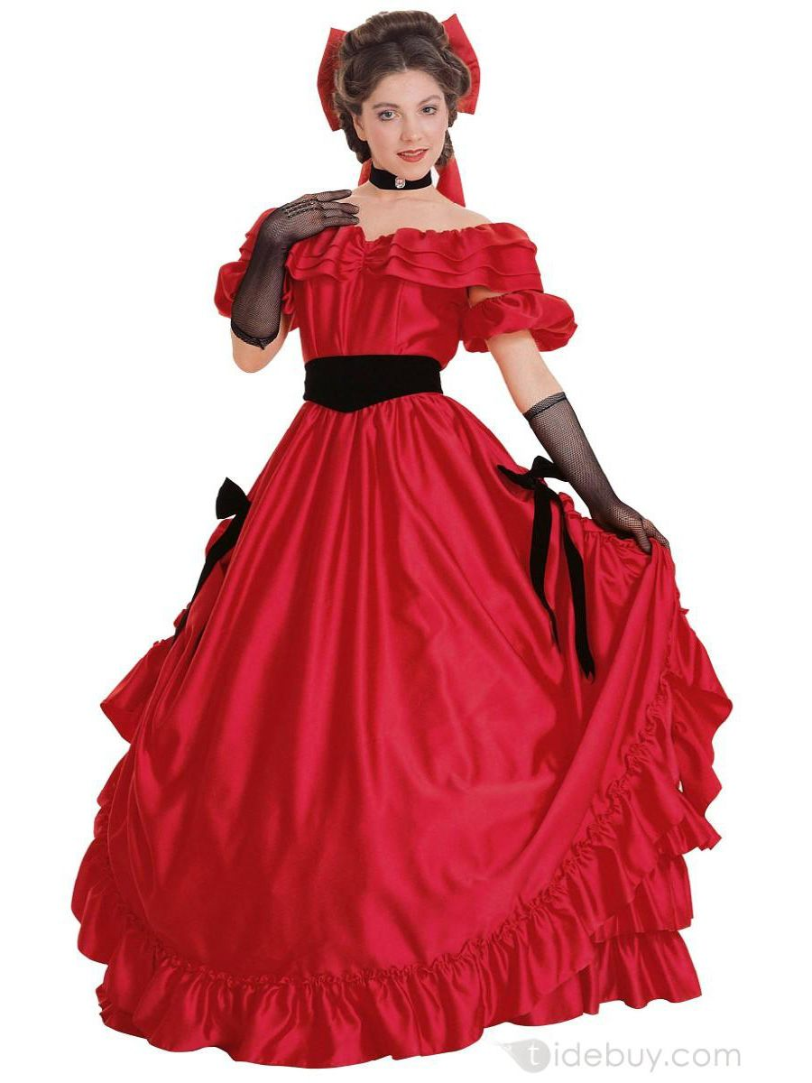Rubie's Red Southern Belle Costume Womens