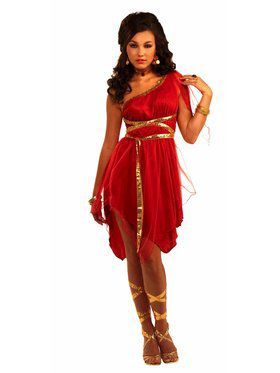 Beautiful Ruby Red Goddess Costume
