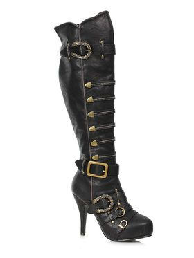 Womens Black Pirate Boots