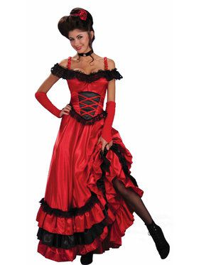 Saloon Sweetie Costume For Adults