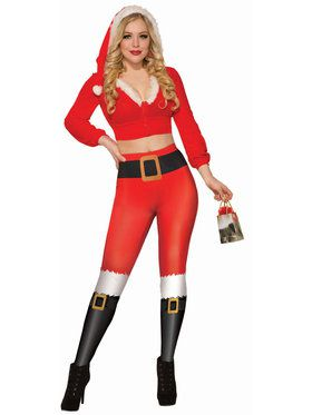 Adult Women's Santa Leggings