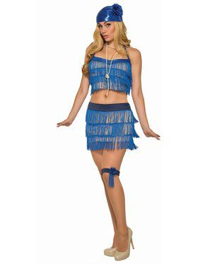 Womens Sapphire Flapper Costume