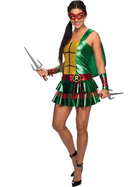 Womens Sassy Deluxe Raphael Teenage Mutant Ninja Turtle Costume