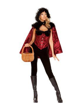 Sexy Women's Little Dark Red Costume
