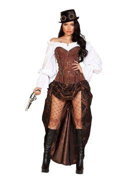 Sexy Women's Machinery Steampunk Costume
