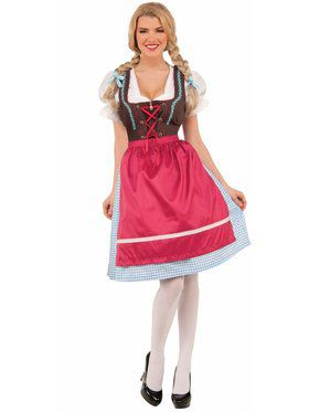 Womens Schatzi The Bavarian Girl Costume