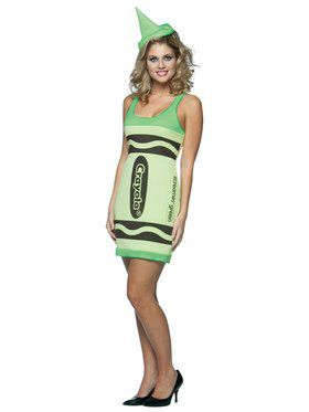 Womens Screamin Green Crayola Crayon Costume