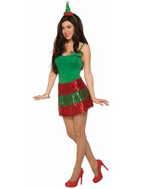 Women's Sequin Christmas Skirt