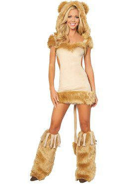 Women's Sexy Courageous Lion Costume