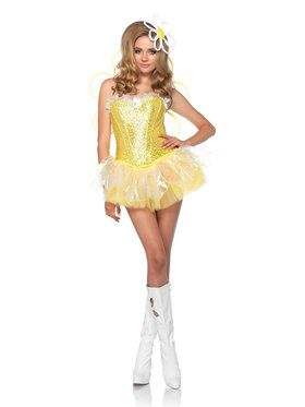 Women's Sexy Daisy Doll Light Up Costume