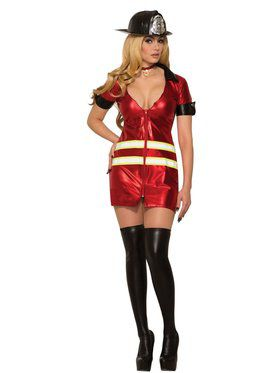 Womens Sexy Fierce Fire Girl Costume