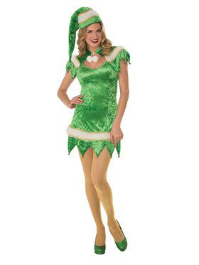 Sexy Green Elf Dress for Women
