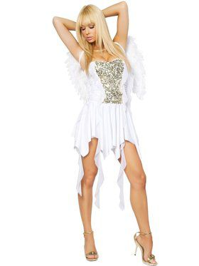 Women's Sexy Heavenly Hottie Angel Costume