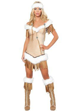 Women's Sexy Indian Snow Princess Costume