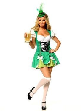 Women's Sexy Irish Lass Costume