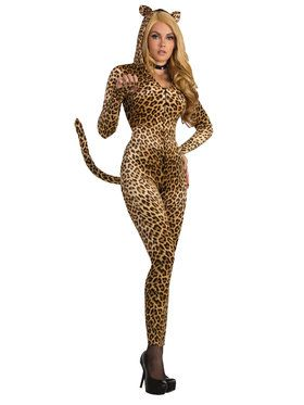 Sexy Leopard Jumpsuit Costume For Women