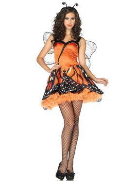 Womens Sexy Lovely Monarch Butterfly Costume