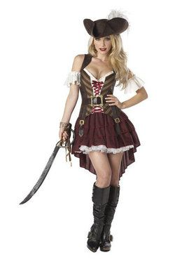 Womens Sexy Plus Size Swashbuckler Pirate Costume