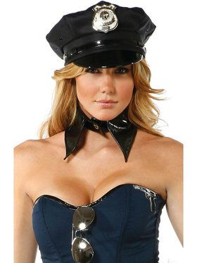 Womens Sexy Police Hat with Badge