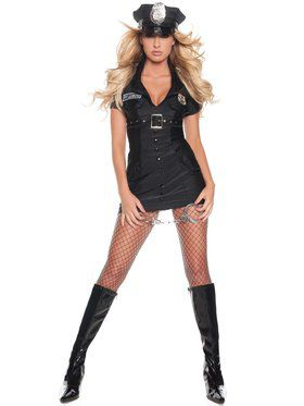 Womens Sexy Private Lessons Police Costume