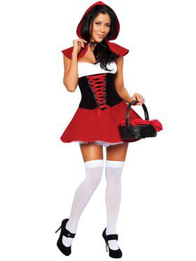 Women's Sexy Red Hot Riding Hood Costume