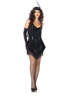 Womens Sexy Roaring 20s Honey Flapper Costume