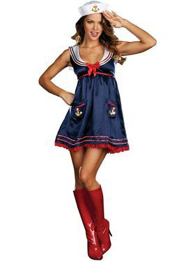 Women's Sexy Sailor Mine Costume