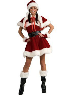 Womens Sexy Velvet Sexy Miss Santa Adult  sc 1 st  Wholesale Halloween Costumes & Women Christmas Costumes at Low Wholesale Prices