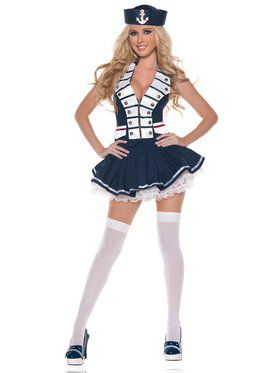 Womens Sexy White Navy Sailor Costume