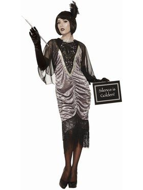 Silent Movie Flapper Women's Costume