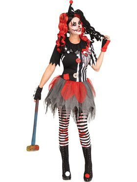 Womens Horror Clown Costume