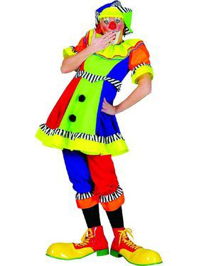 Womens Spanky Stripes Clown Costume