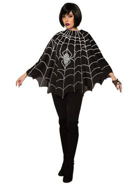 Spider Web Poncho for Women