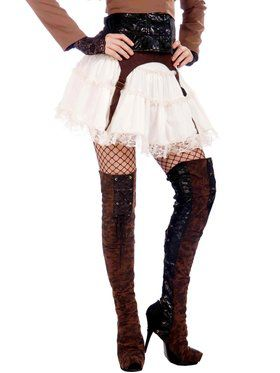 Women's Steam Punk Thigh High Boot Tops