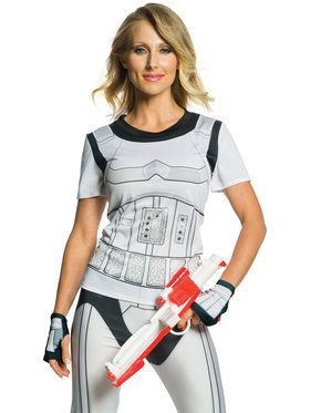 Stormtrooper Rhinestone Top For Adults