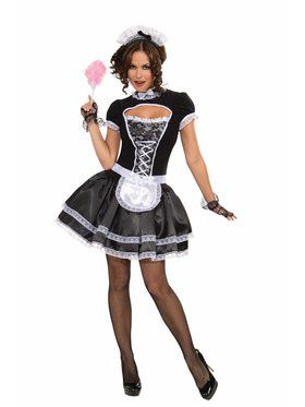 Naughty French Maid Costume for Women