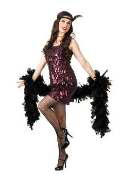Womens Tear Drop Flapper Costume
