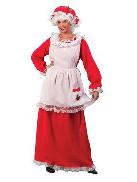 Womens Traditional Mrs Claus Costume