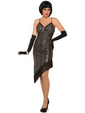 Womens Twilight Flapper girl Sequin Costume