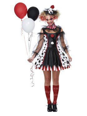 Lovely Twisted Clown Costume For Women
