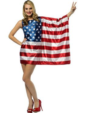 Women's USA American Flag Dress