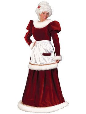Womens Velvet Mrs. Claus Costume