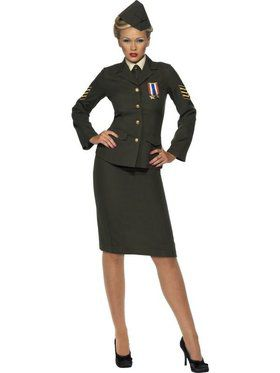 Womens Wartime Officer Costume