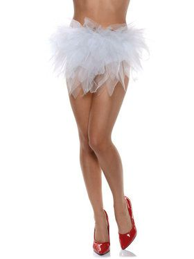 Women's White Ragged Sexy Tutu