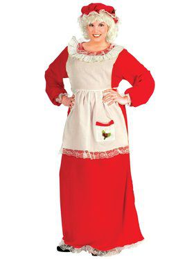 Womens Xl Traditional Mrs Claus Costume