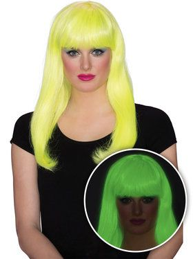 Yellow Glow Babe Wig for Women