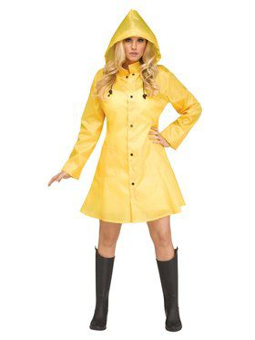 Womens Yellow Dancing in the Raincoat