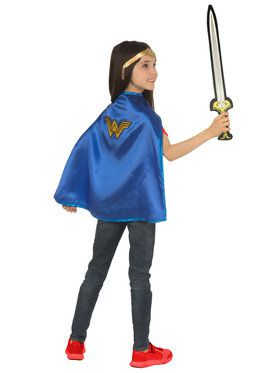 Wonder Woman Cape and Sword Set for Halloween