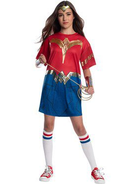 Comfy Wonder Woman Dress Costume for Teens